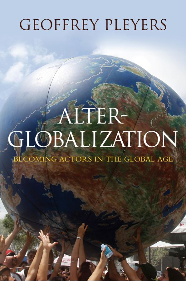 Alter-Globalization. Becoming actors in the global age
