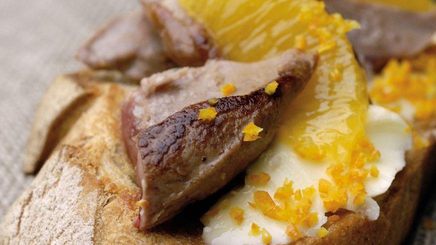 recette-5458-Tartine d'aiguillettes de canard à l'orange
