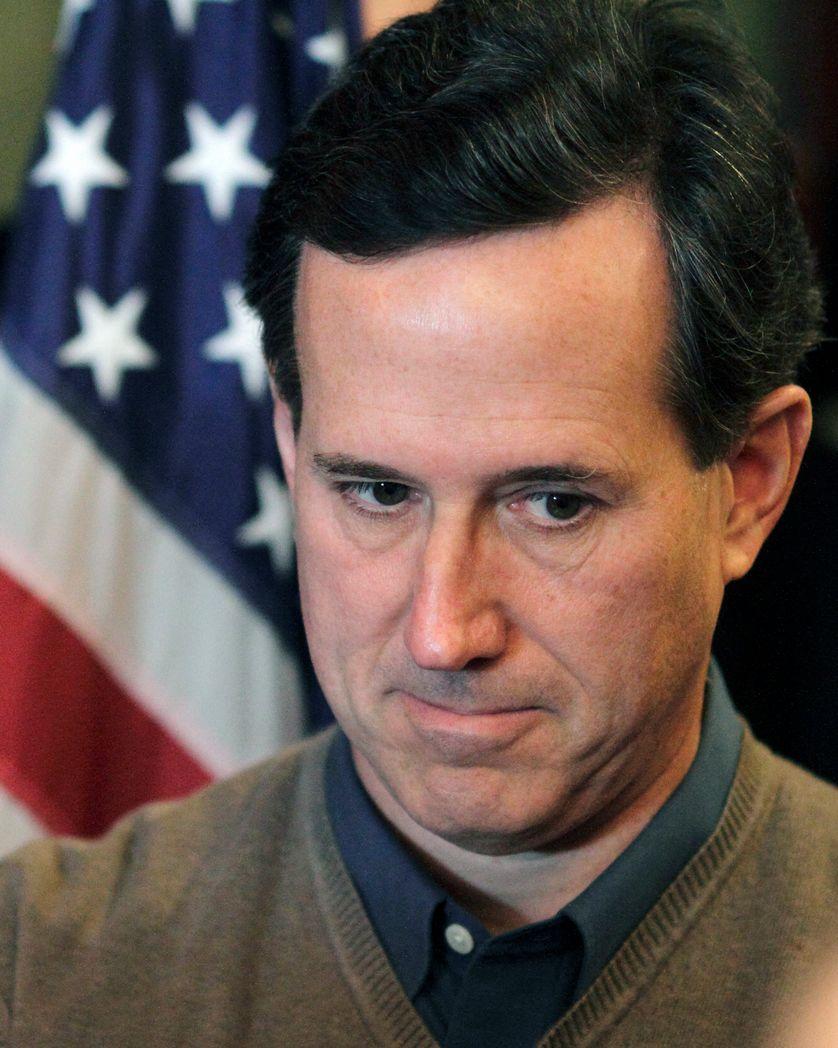 Le candidat républicain Rick Santorum le 2 janvier 2012, à Perry, Iowa