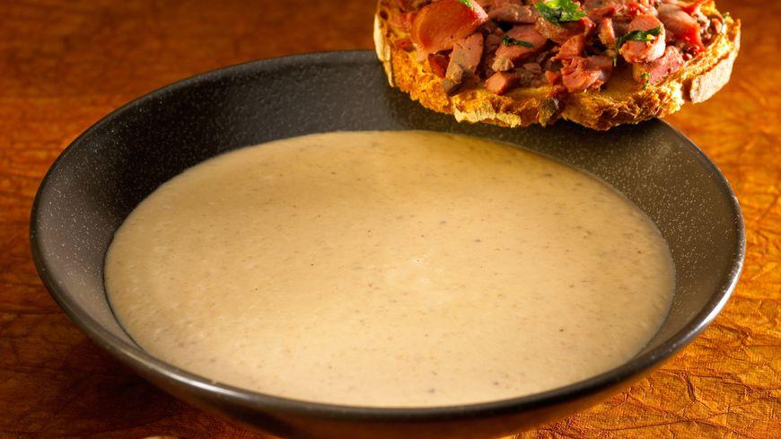 recette-5542-Velouté de châtaignes, tartines de béatilles