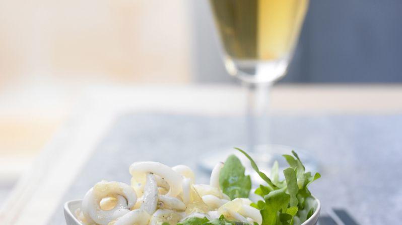 recette-3843-Tagliatelles d'encornet et  vinaigrette à l'encre de seiche