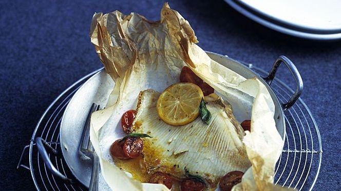 Ailes de raie en papillote for France bleu orleans cuisine