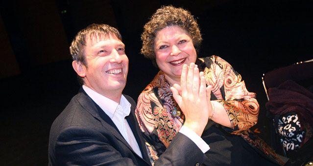 Boris Bérezovski et Brigitte Engerer