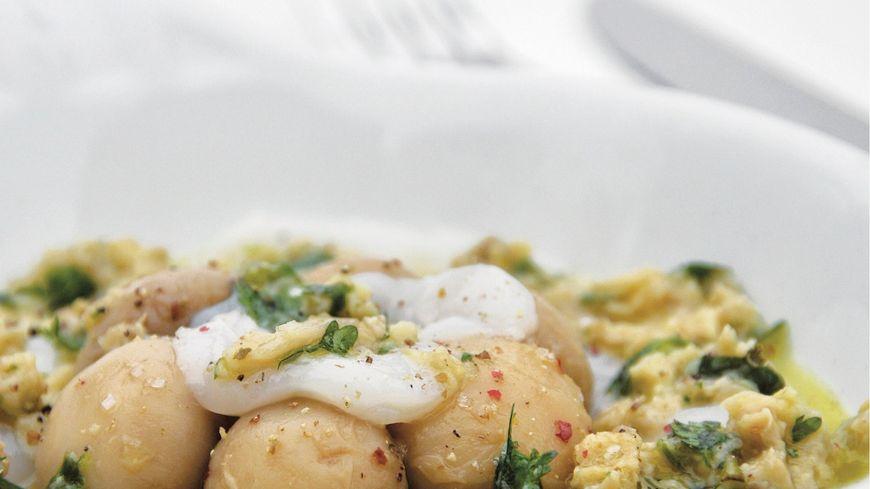 recette-5924-Carpaccio de Saint-Jacques, gremolata champignons
