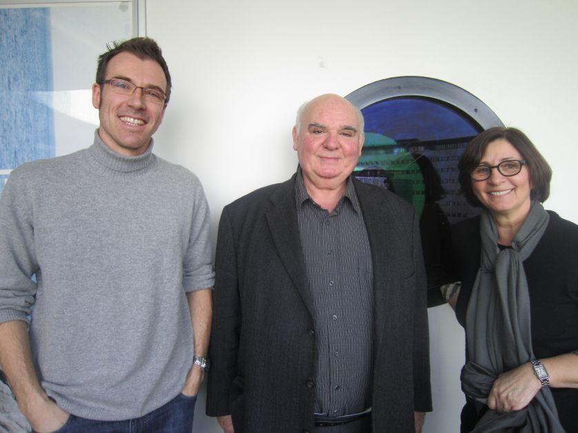 Ghyslain BERTHOLON, Michel PASTOUREAU et Catherine GUILLEBAUD.