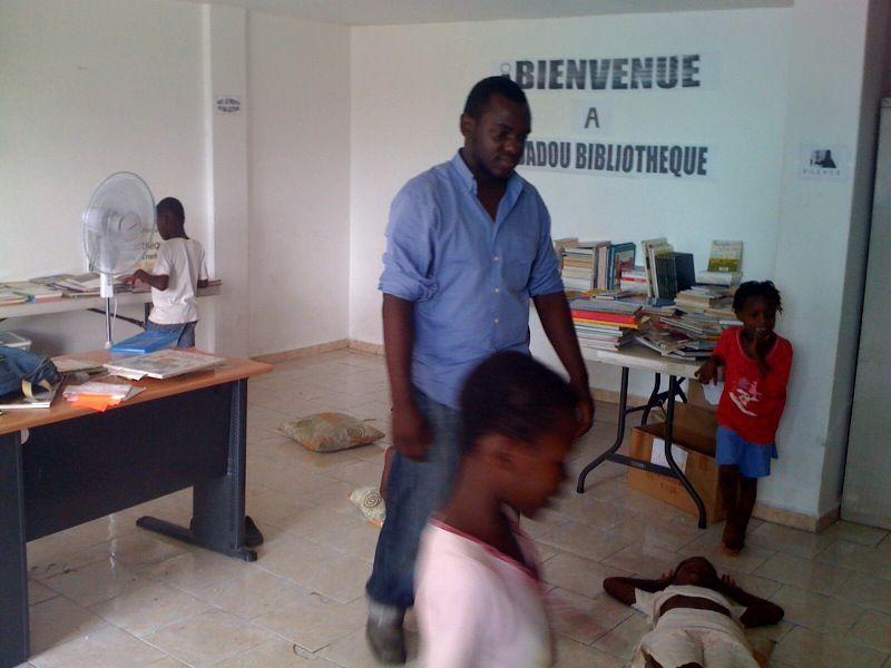 Bibliothèque du camp de Dadadou