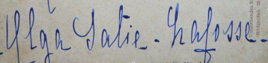 Signature Olga Satie