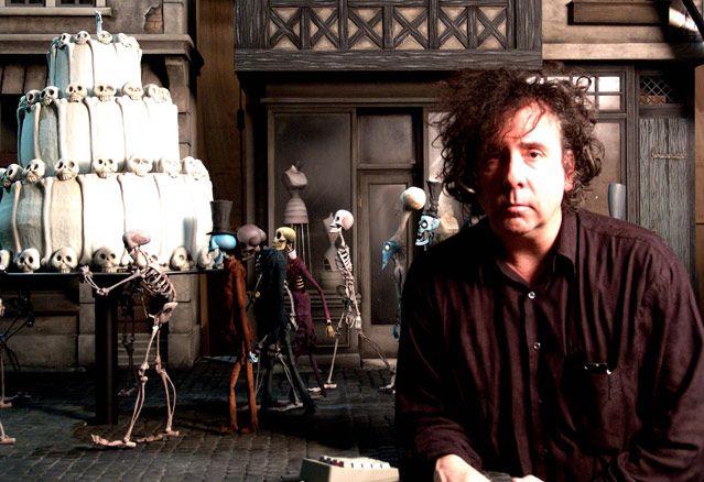 Les Noces funèbres (Corpse Bride) -  Tim Burton sur le plateau.