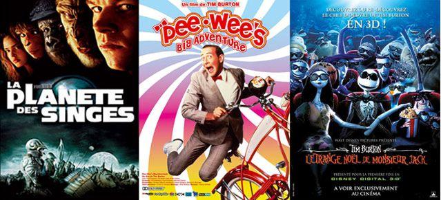 Affiches de films : La planéte des singes - Pee-Wee's big adventure - L'étrange Noël de monsieur Jack