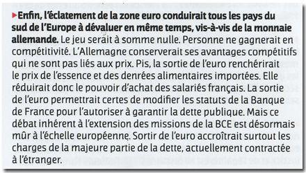 Brochure PS, extrait sur l'Euro