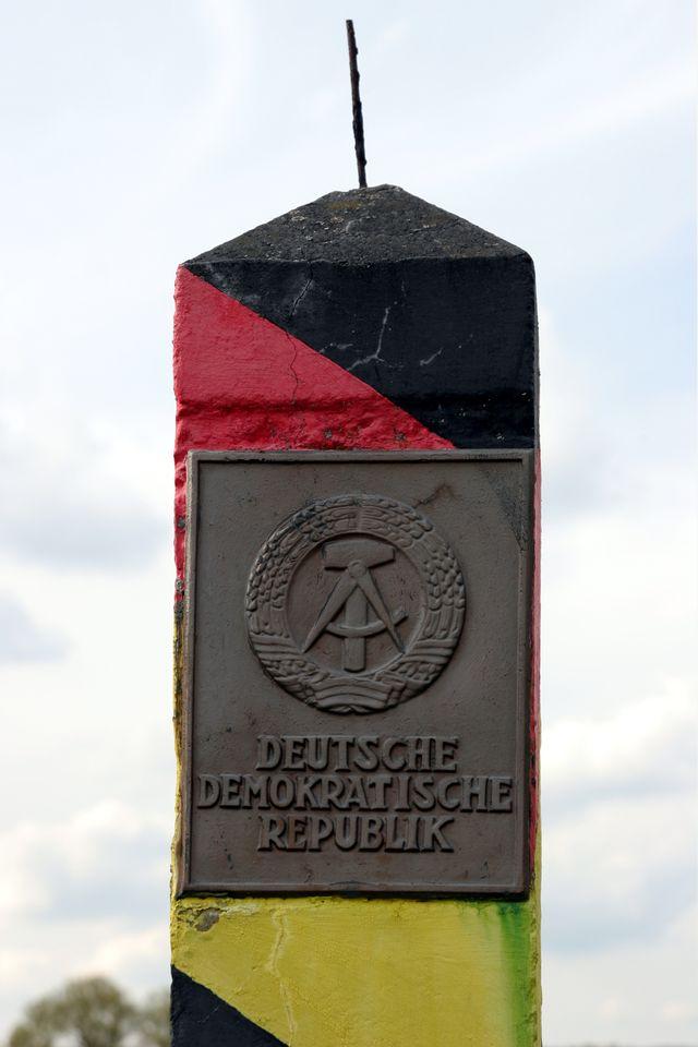 Borne frontière de l'ex-RDA