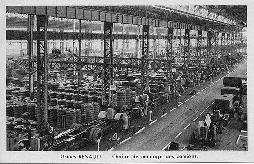 Usine Renault, chaîne de montage des camions