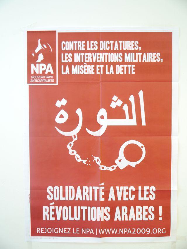 Solidarité aux révolutions arabes