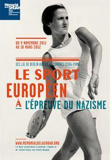 Affiche de l'exposition Le sport européen à l'épreuve du nazisme