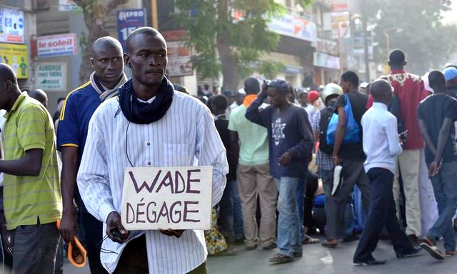Manifestants anti Wade