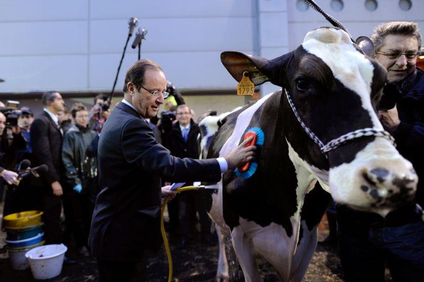 François Hollande au Salon de l'Agriculture le 28 février 2012