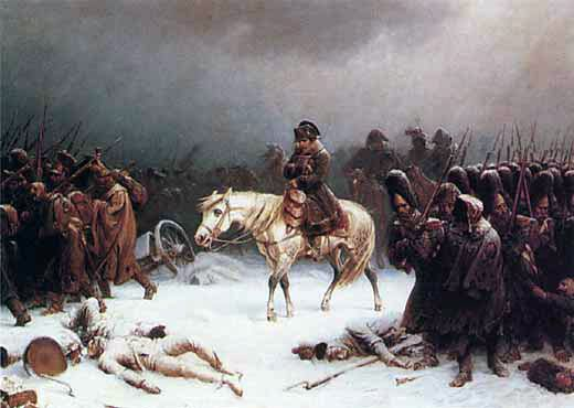 La retraite de Moscou de Napoléon  par Adolph Northen