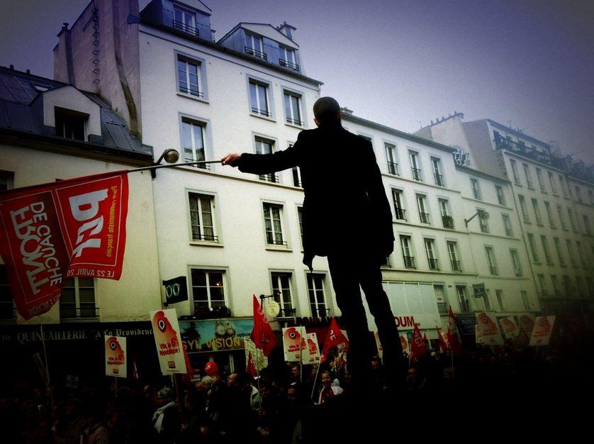 Meeting/Manif du Front de Gauche, Place de la Bastille, 18/03/12, (2)