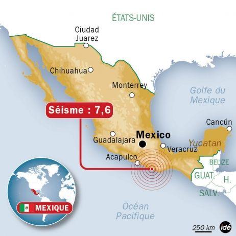 Séisme de 7,6 au Mexique