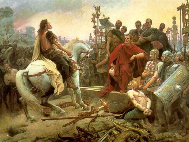 Vercingetorix jette ses armes aux pieds de Jules César - Lionel-Noël Royer - 1899