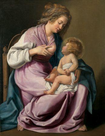 Artemisia Gentileschi : Vierge allaitant
