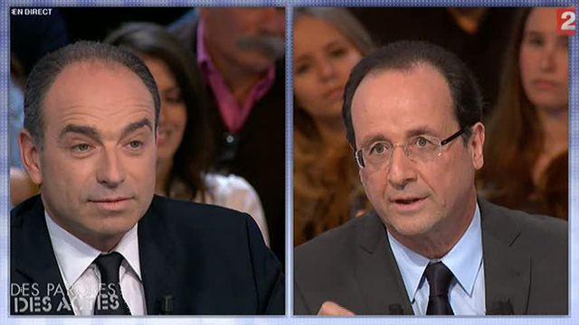 Jean-François Copé et François Hollande
