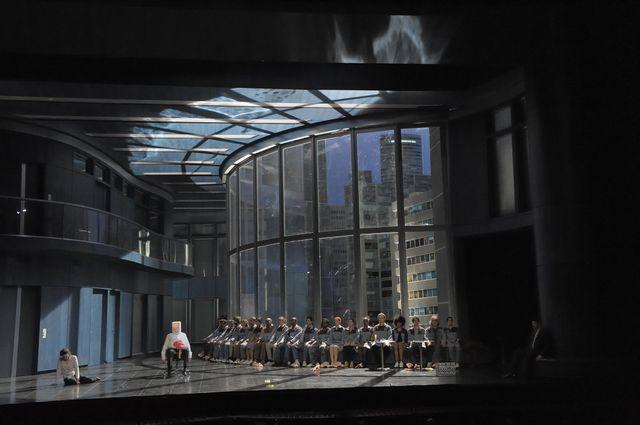 Don Giovanni de Mozart : Véronique Gens (Donna Elvira), Paata Burchuladze (Le Commandeur) et à droite : David Bizic (Leporello)