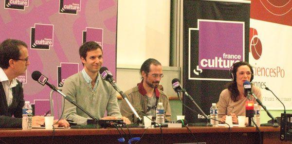 De gauche à droite: Simon Chignard, Alban Martin, Christophe Cariou et Caroline Broué