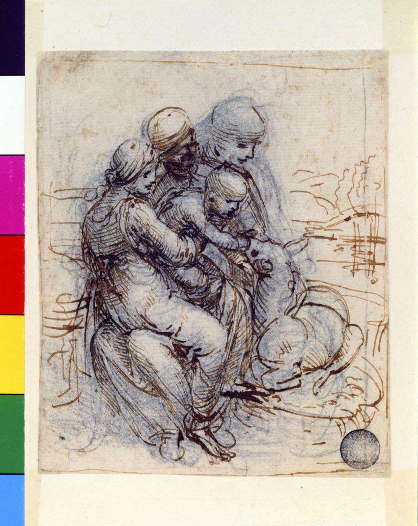 Etude de composition pour une sainte Anne