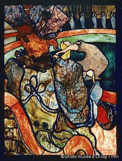 Henri de Toulouse-Lautrec, Louis Comfort Tiffany  Au Nouveau Cirque, Papa Chrysanthème