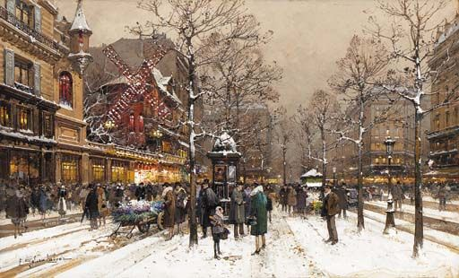 Le Moulin Rouge - Eugène Galien-Laloue
