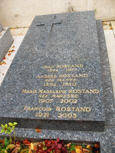 Sépulture de Jean Rostand