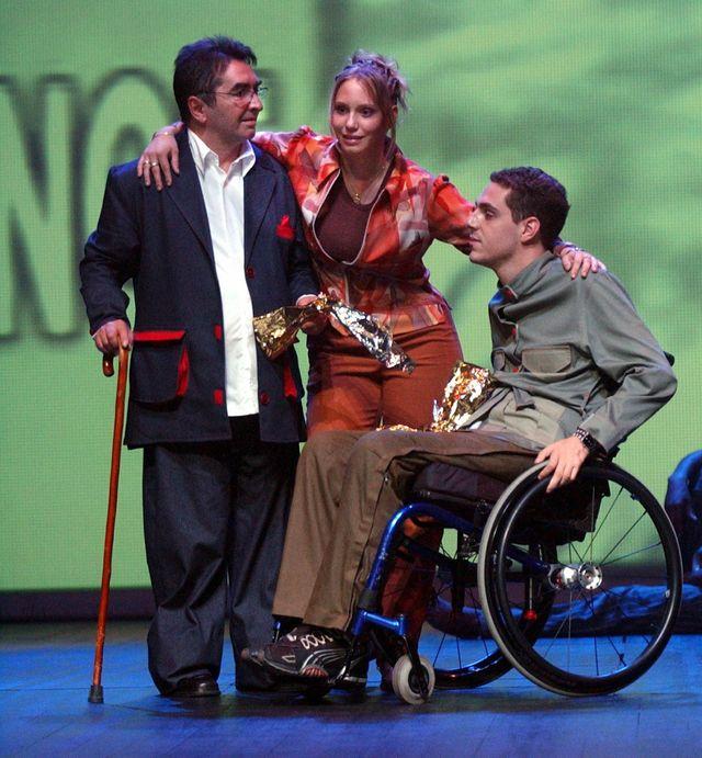Sur scène en fauteuil