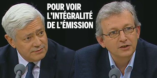 Bruno Gollnisch et Pierre Laurent avec L