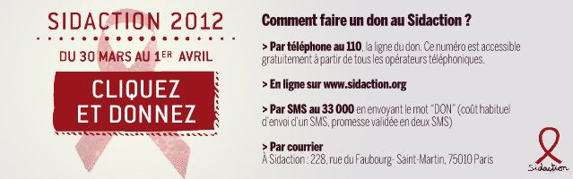 donnez au sidaction 2012