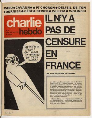 Charlie Hebdo n°1 du 23 janvier 1970. « Il n'y a pas de censure en France »