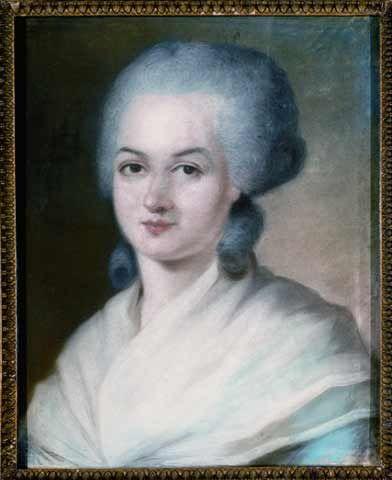 Portrait d'Olympe de Gouges, fin XVIIIème, collection particulière. Artiste inconnu