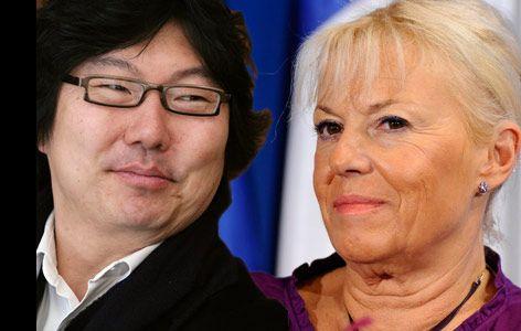 Jean-Vincent Placé et Marie-Christine Arnautu