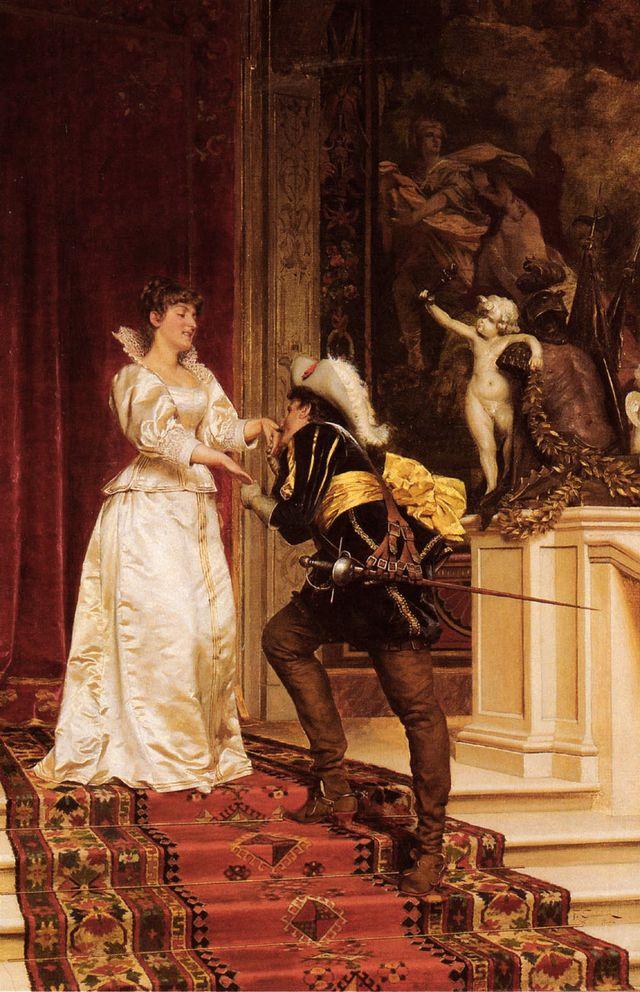 Le baiser du chevalier par Frédéric Soulacroix