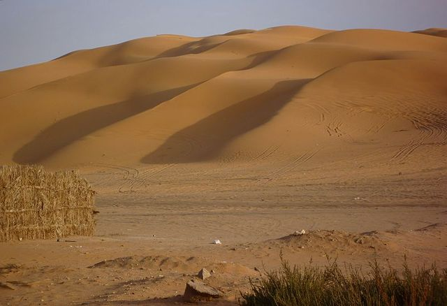 Near the Gaberoun Oasis — located in the Sahara, the Sabha District, Fezzan, southwestern Libya