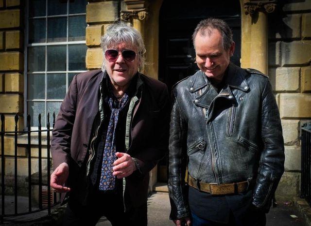Arno et le producteur anglais de son nouveau disque, John Parish
