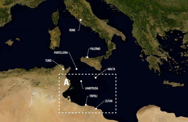 La carte de la zone