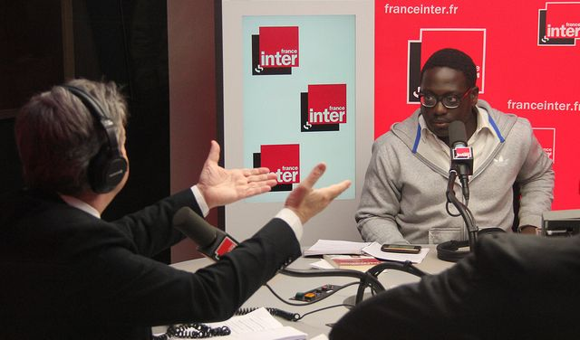 Jean Luc Mélenchon et Clay Youale