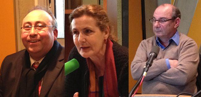 De gauche à droite : Emmanuel Lechypre, Isabelle Veyrat-Masson et Paul Nahon