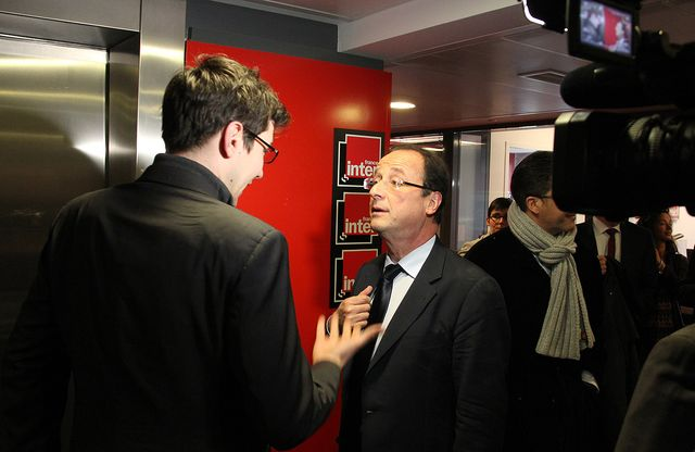Paul Henri Charrier et François Hollande