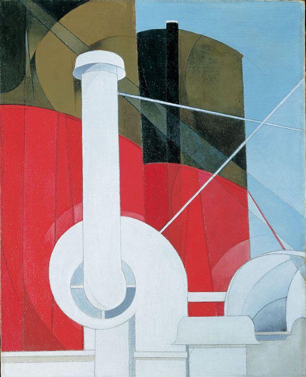 """Paquebot """"Paris"""" par Charles Demuth - 1921/22"""