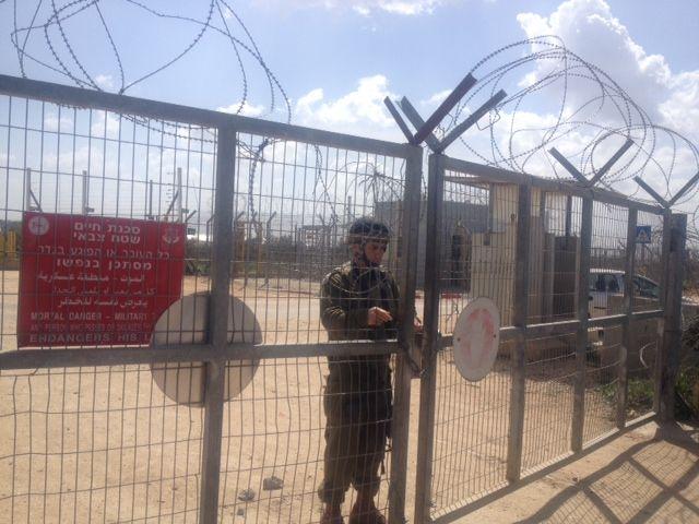 Check-point israélien dans le village palestinien de Habla, en Cisjordanie