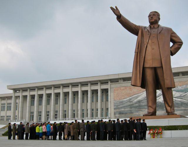 Le Grand Monument Mansudae à Pyongyang