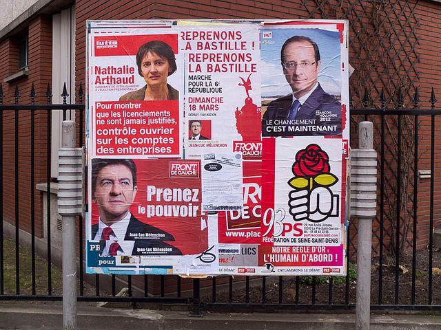 Affiches candidats présidentielle 2012