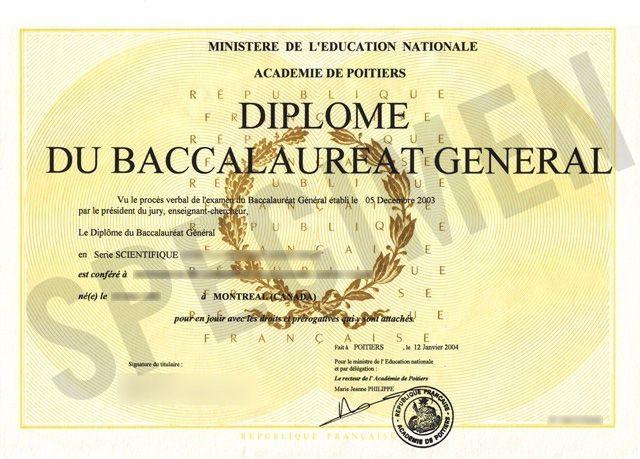 Diplome du Bac
